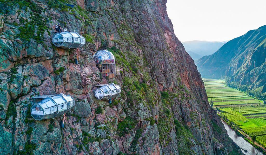 Куда поехать ТОП самых необычных отелей мира Skylodge Adventure Suites