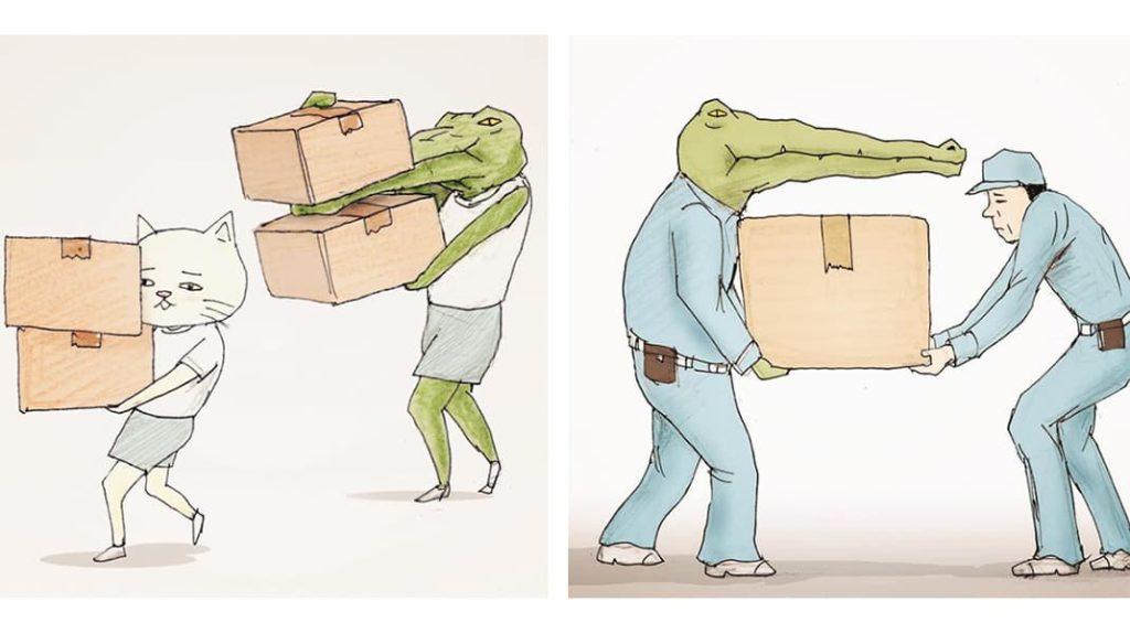 Как тяжело жить в мире людей, если ты крокодил коробки