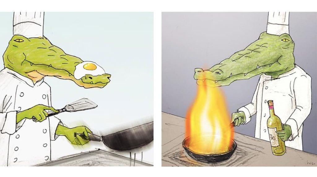 Как тяжело жить в мире людей, если ты крокодил повар