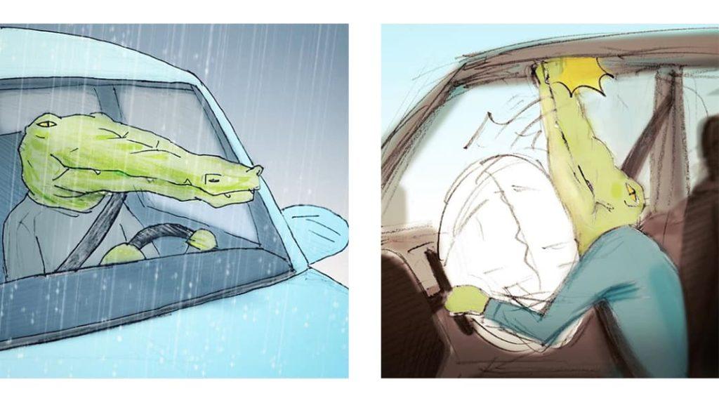 Как тяжело жить в мире людей, если ты крокодил за рулем
