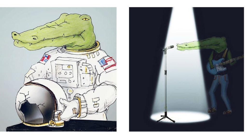 Как тяжело жить в мире людей, если ты нарисованный крокодил Нил Армстронг, крокодил рок звезда