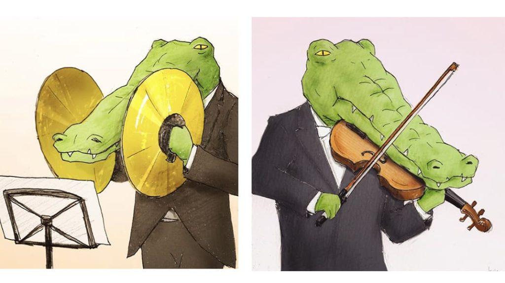 Как тяжело жить в мире людей, если ты нарисованный крокодил музыкант