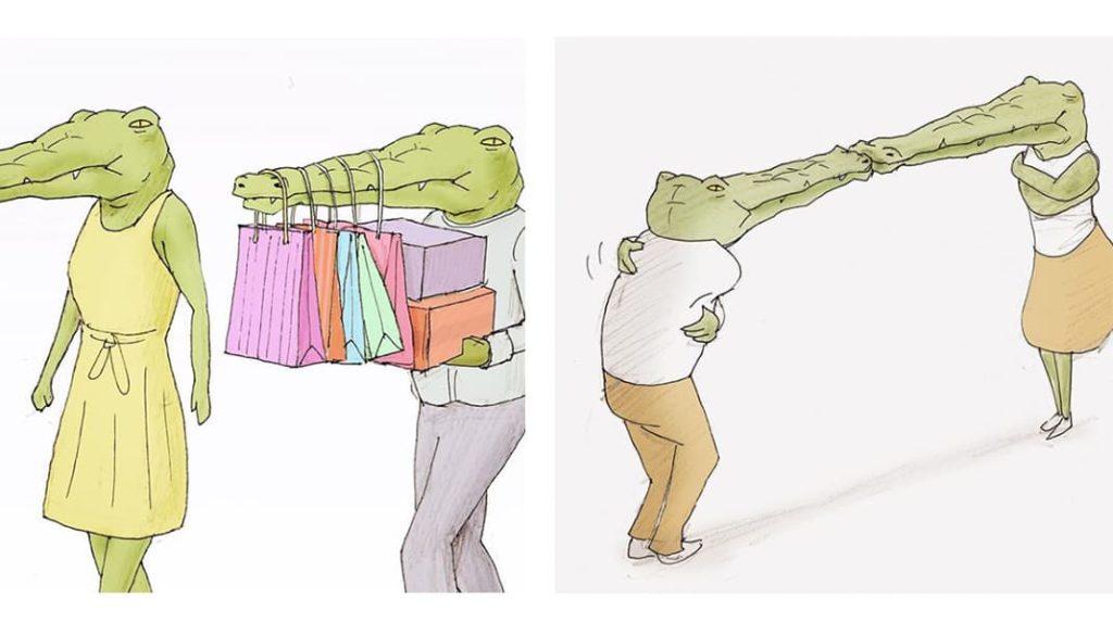 Как тяжело жить в мире людей, если ты нарисованный крокодил романтик