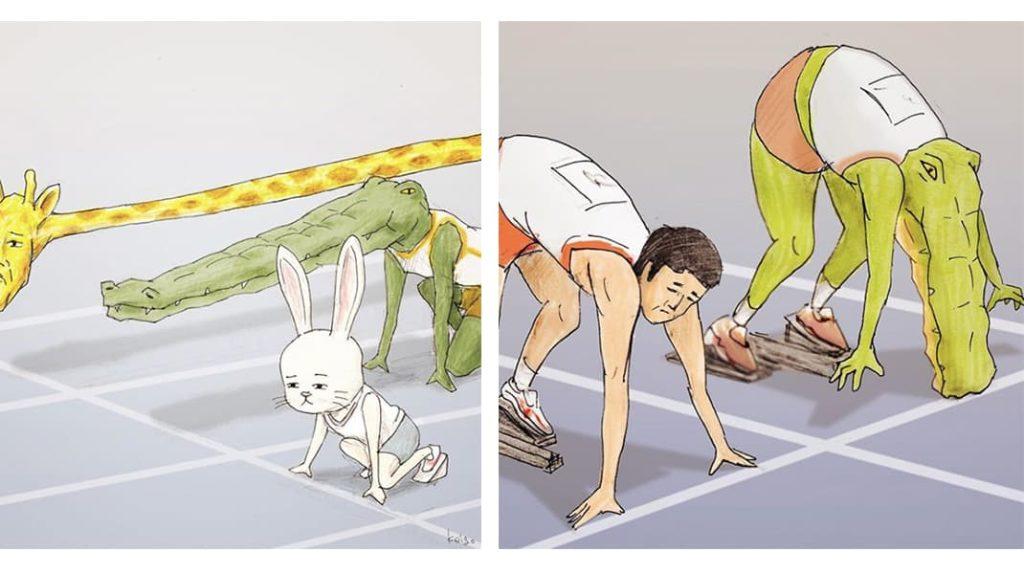 Как тяжело жить в мире людей, если ты нарисованный крокодил спортсмен бег