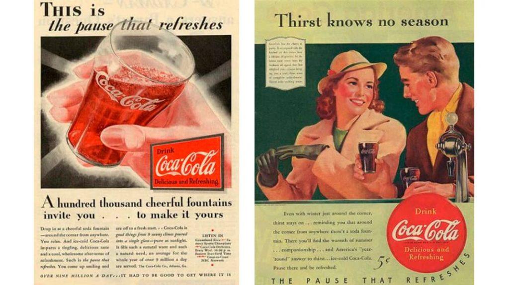 Старые плакаты Кока-кола