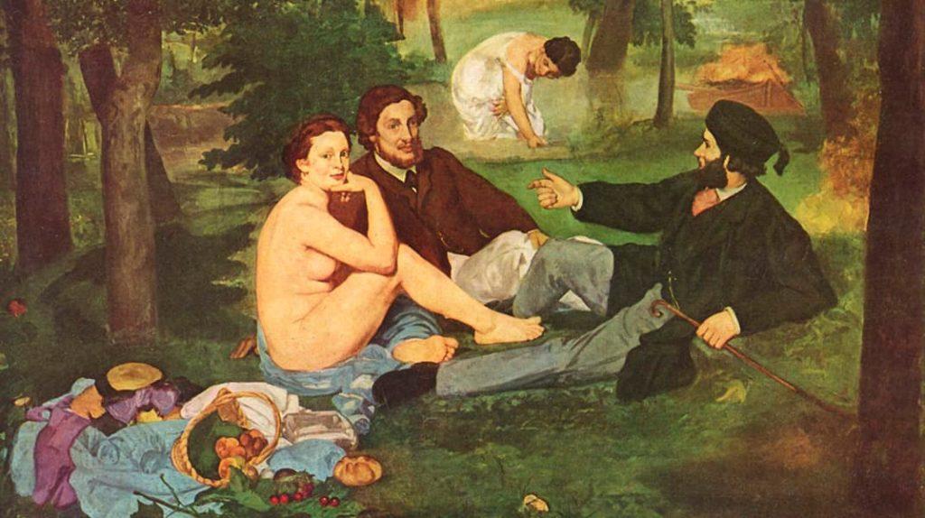 Эдуард Мане Завтрак на траве известные картины