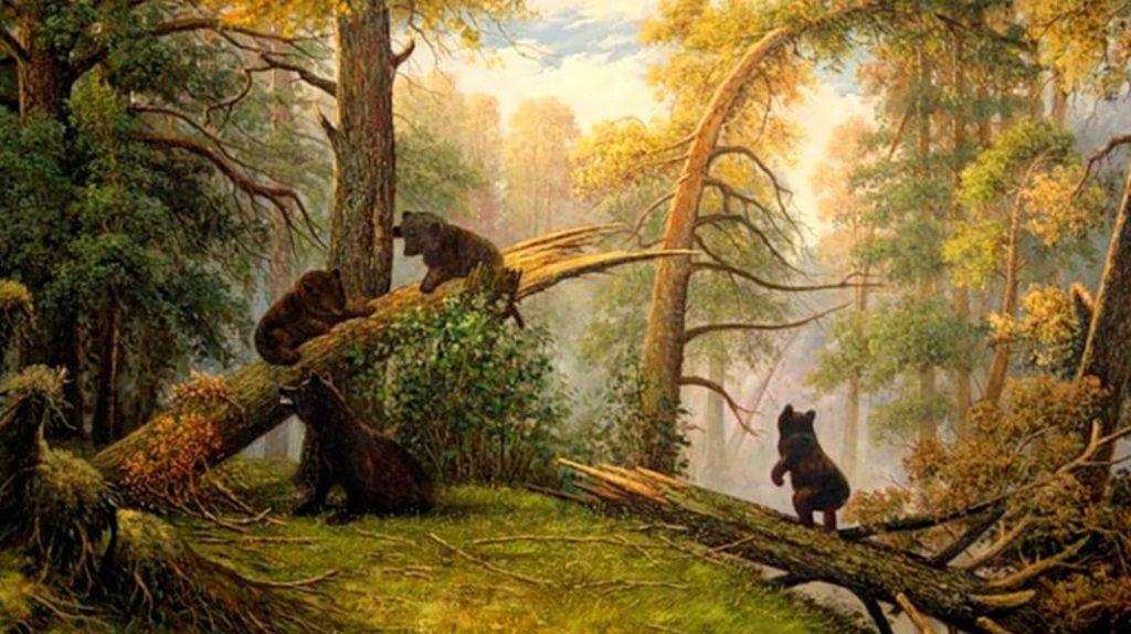 Иван Шишкин Утро в сосновом лесу известные картины
