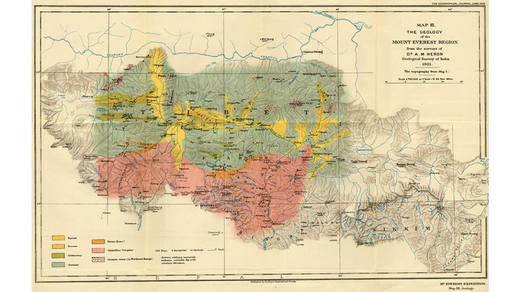Карта Гималаи Эверест