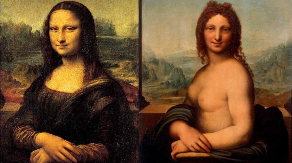 Леонардо да Винчи Портрет госпожи Лизы дель Джокондо Голая Мона Лиза