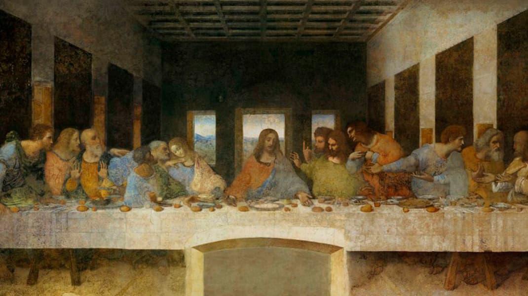 Леонардо да Винчи Тайная вечеря известные картины