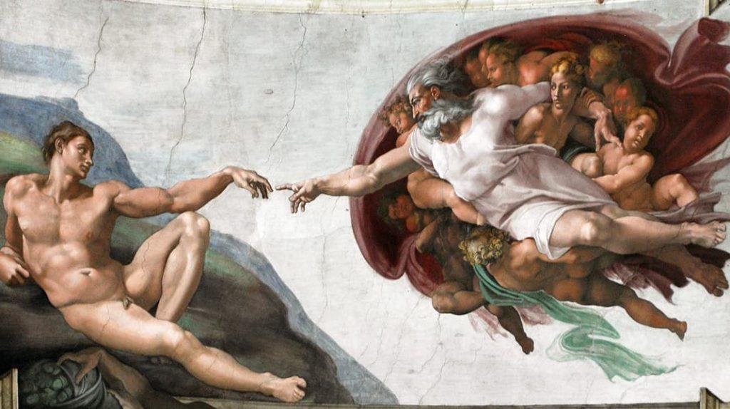Микеланджело Буонарроти Сотворение Адама известные картины