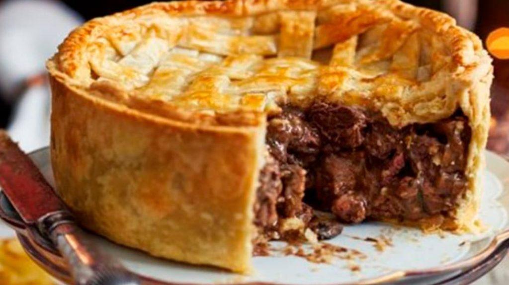 Пирог с мраморной говядиной