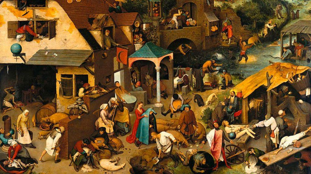 Питер Брейгель Старший «Фламандские пословицы» известные картины