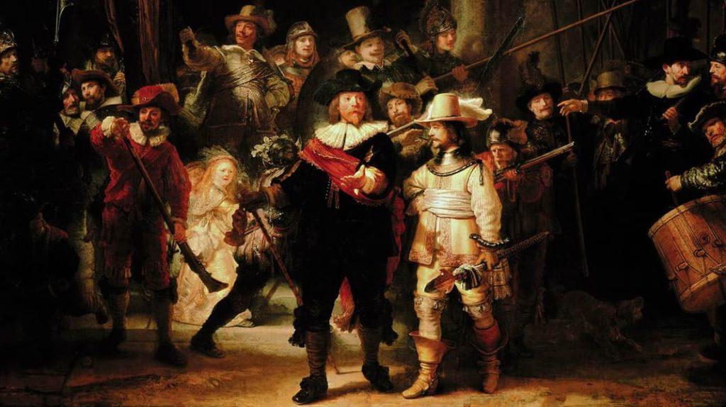 Рембрандт «Выступление стрелковой роты капитана Франса Баннинга Кока и лейтенанта Виллема ван Рёйтенбюрга»