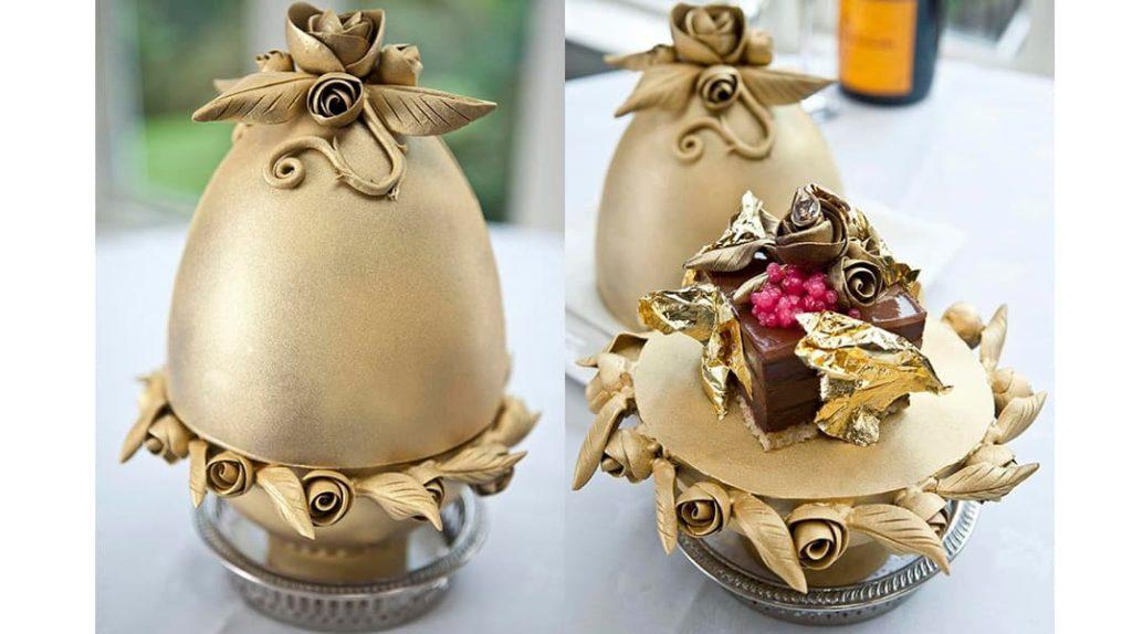 Шоколадный пудинг «Фаберже»