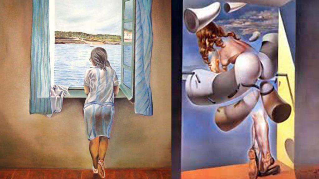 Сальвадор Дали Женская фигура у окна Юная девственница, предающаяся содомскому греху при помощи рогов собственного целомудрия