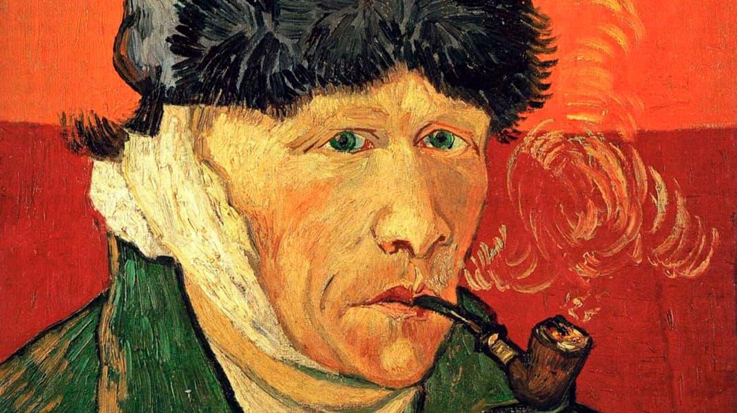 Винсент Ван Гог Автопортрет с трубкой известные картины
