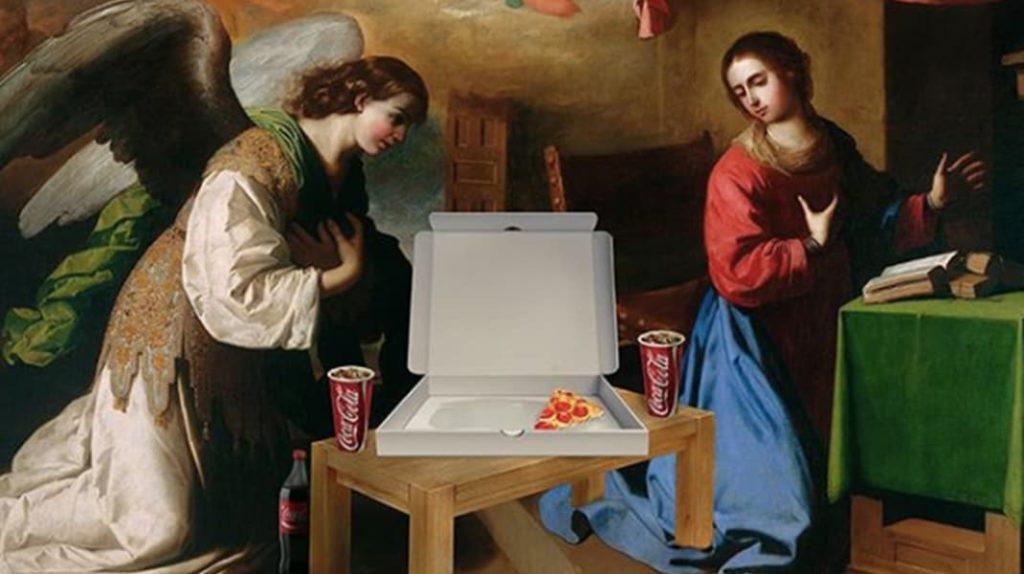 Пицца, доставка пиццы, Coca Cola