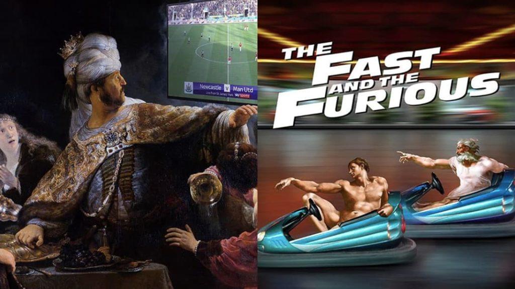 Произведения искусства глазами турецкого дизайнера, футбол