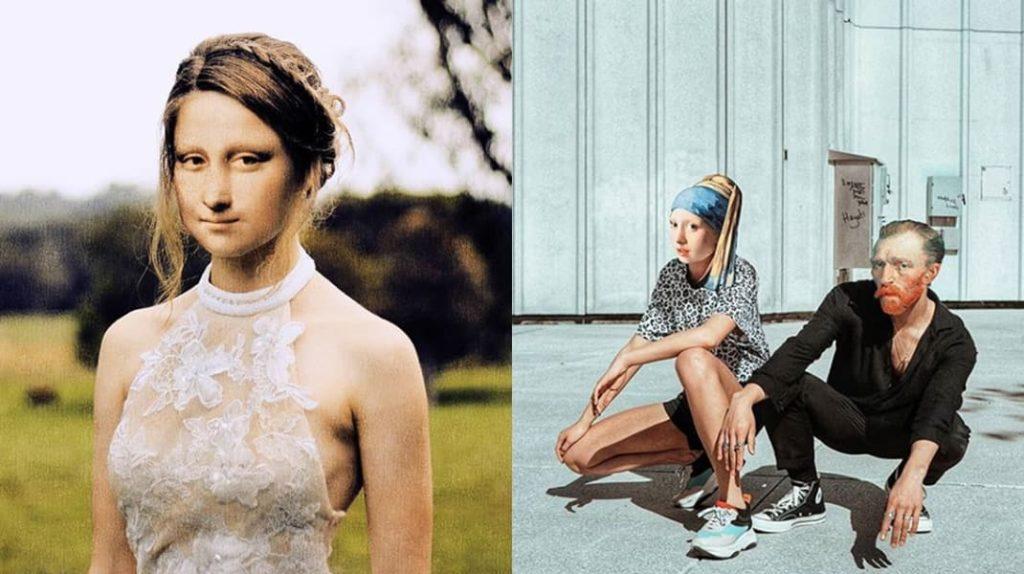 Произведения искусства глазами турецкого дизайнера, Мона Лиза, Джоконда, Ван Гог, девушка с жемчужной сережкой