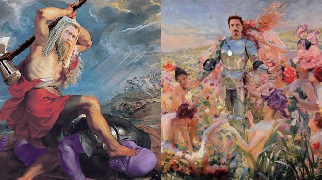 Произведения искусства глазами турецкого дизайнера, Мстители, Тор, Танос, Железный человек