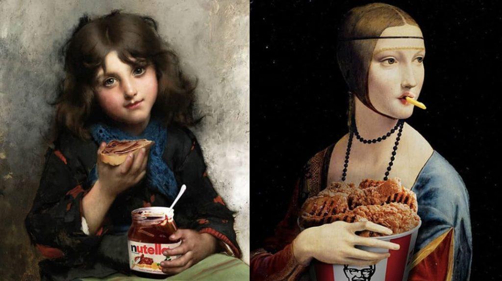 Произведения искусства глазами турецкого дизайнера, Nutella, KFC