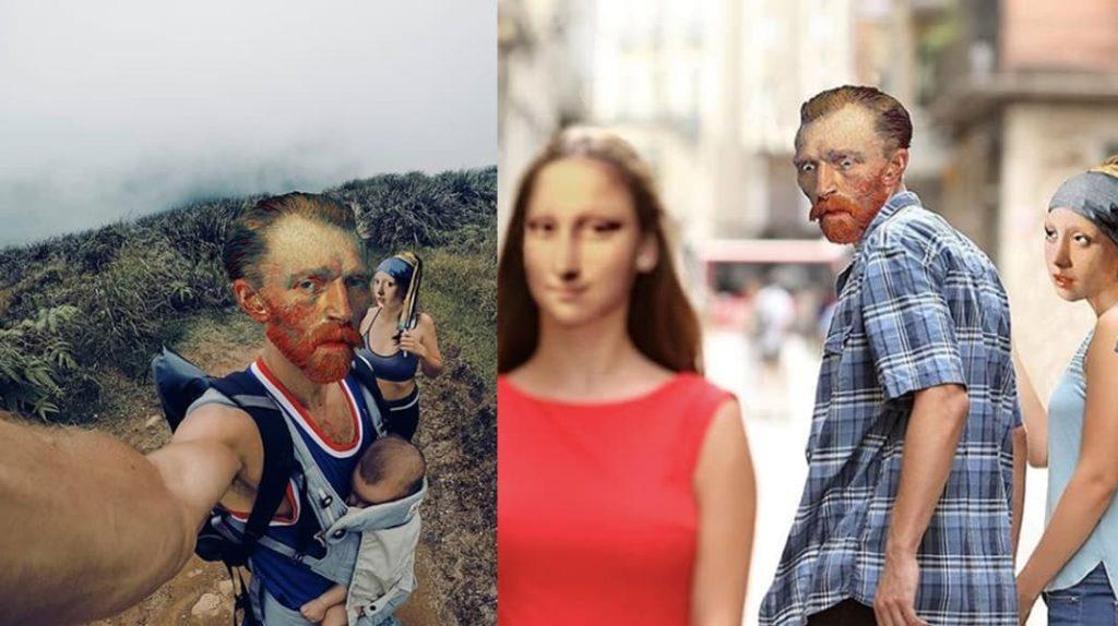 Произведения искусства глазами турецкого дизайнера, Ван Гог, Мона Лиза, Девушка с жемчужной сережкой