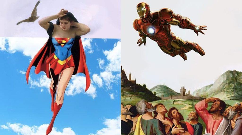 Супервумен, супермен, Железный человек