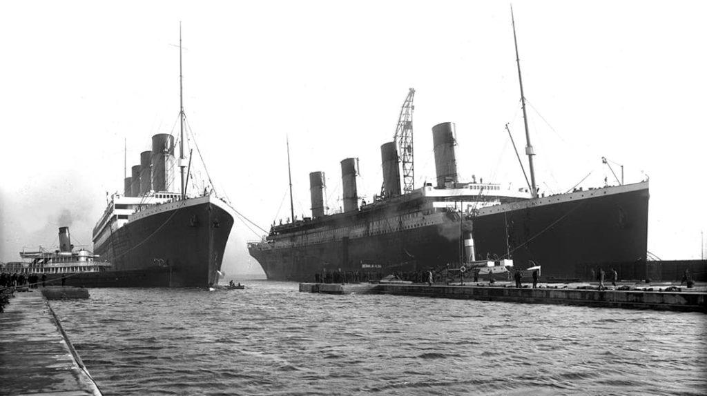 Лайнер Олимпик и Титаник