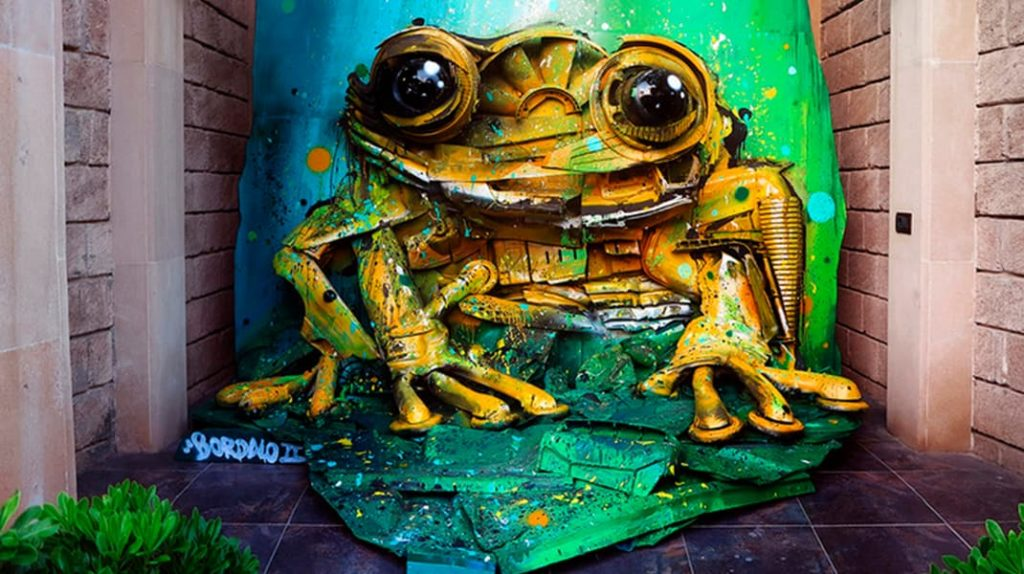 Художник создает невероятные скульптуры, чтобы предотвратить загрязнение планеты, енот, Артур Бордало