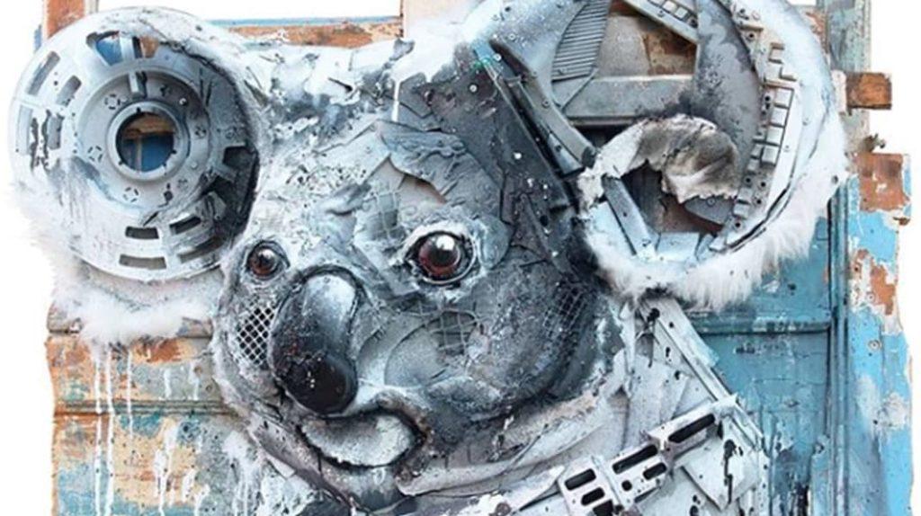 Коала, проблемы экологии, скульптура, Артур Бордало