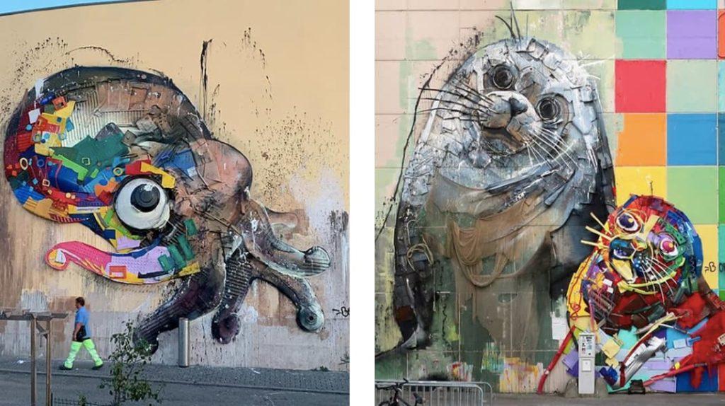 Проблемы экологии, глобальные проблемы, морские животные, скульптуры, Артур Бордало