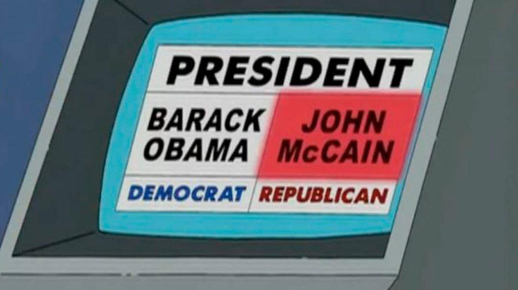 Автомат для фальсификации голосов, Симпсоны, Барак Обама, лайфхаб, lifehub, пророчества