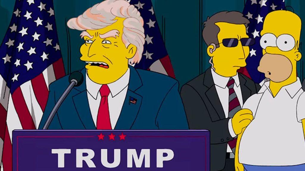 Дональд Трамп в Симпсонах, пророчества Симпсонов