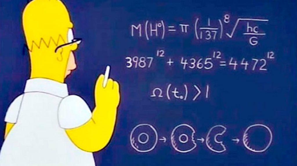 Гомер Симпсон, формула массы бозона Хиггса, пророчества, лайфхаб, lifehub