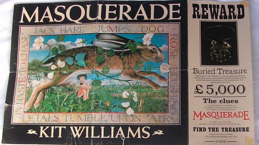 4 Книга Маскарад, Кит Уильямс, лайфхаб, lifehub, book, Masquerade, Kit Williams, пасхалка, золотой заяц
