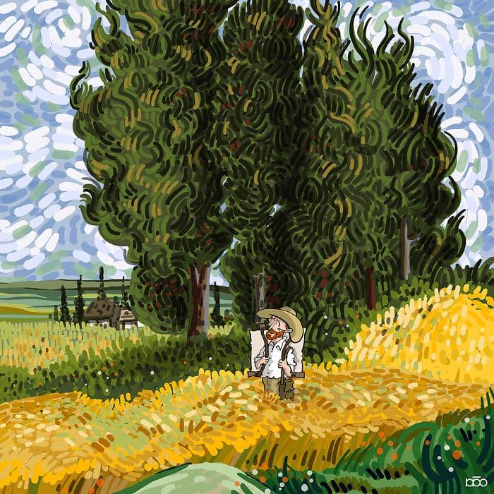 Алиреза Карими Могаддам, поле, лайфхаб,  иллюстрация,  современное искусство, lifehub