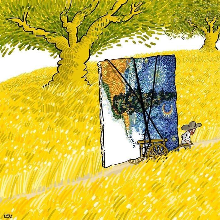 Алиреза Карими Могаддам, рисунок, лайфхаб, иллюстрация,  современное искусство, lifehub