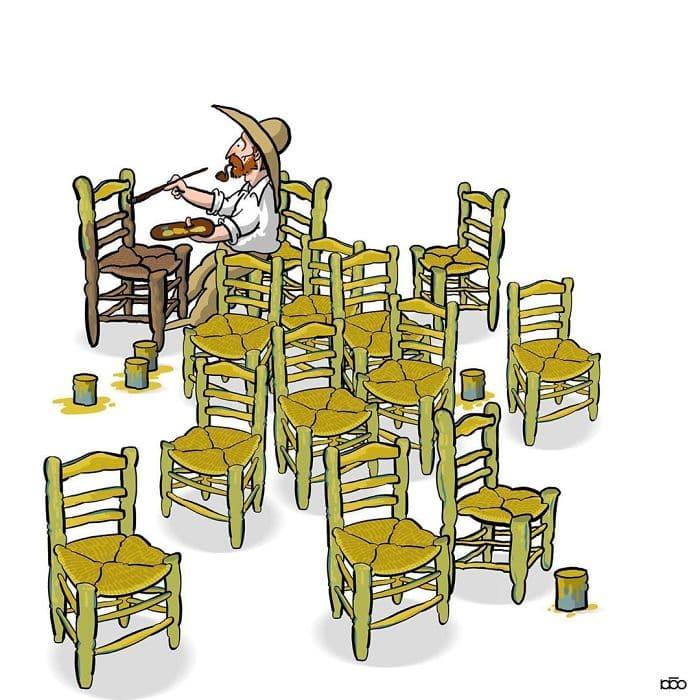 Алиреза Карими Могаддам, Ван Гог, комната, лайфхаб, иллюстрация,  современное искусство, lifehub