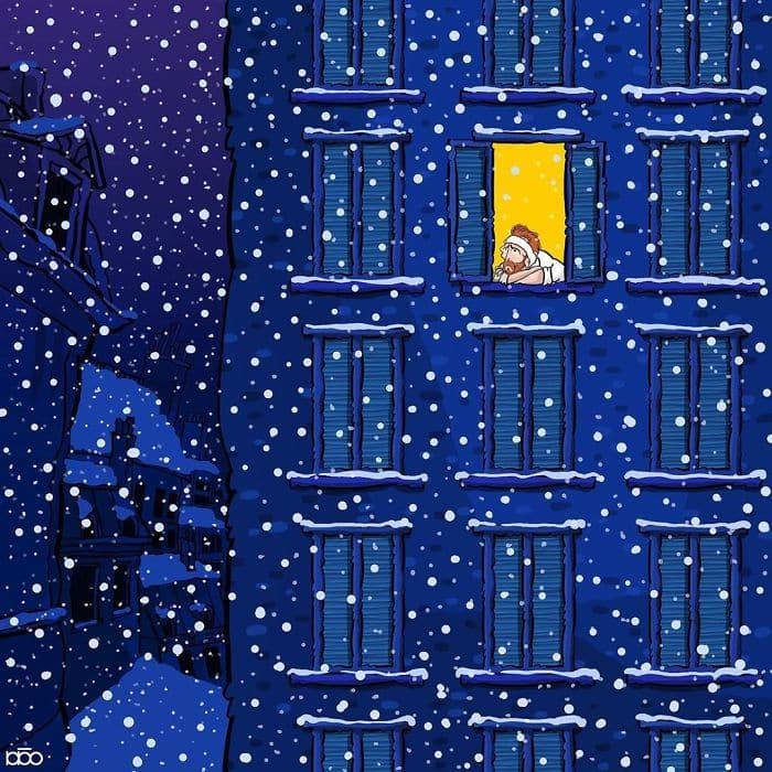 Алиреза Карими Могаддам, Ван Гог, лайфхаб, иллюстрация,  современное искусство, lifehub, спальня в Арле