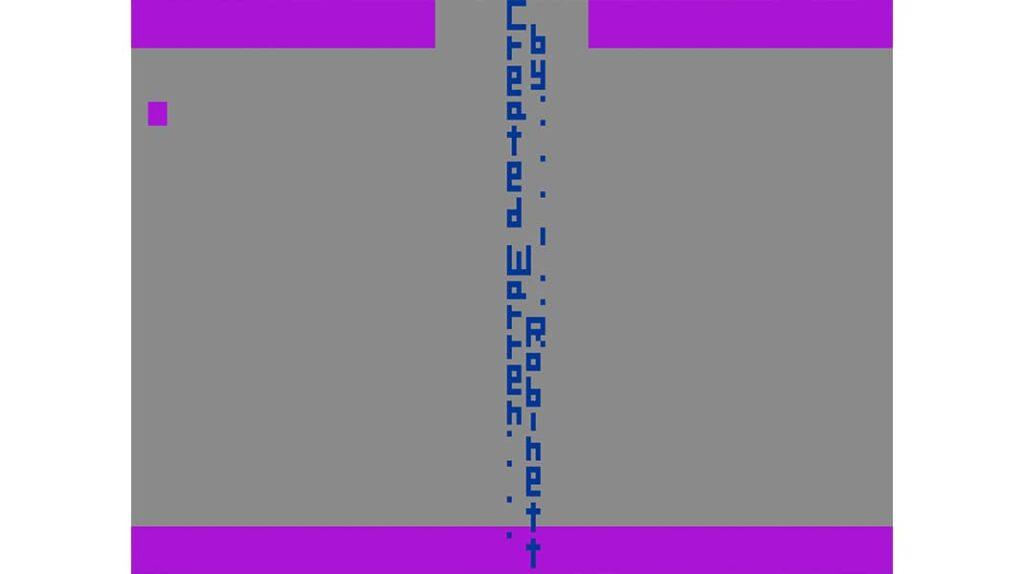 Игра Adventure пасхалка, Created by Warren Robinett, Создано Уорреном Робинеттом