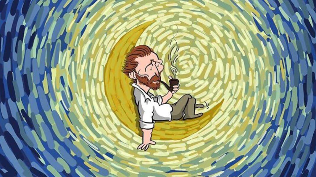 Ван Гог в современном искусстве. Иранец создает удивительные иллюстрации