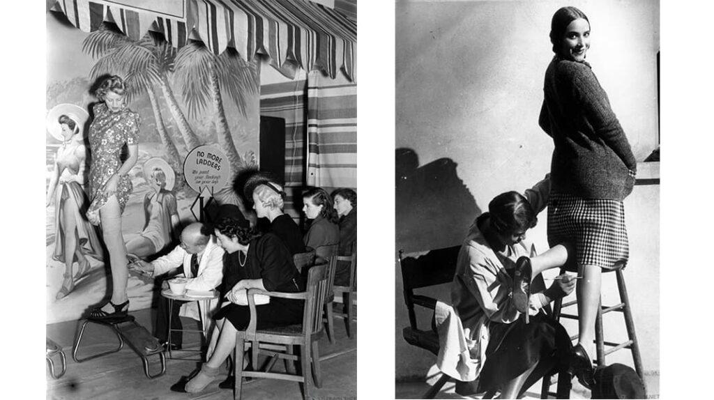Имитация женских чулок, женские чулки, лайфхаб, послевоенная мода, lifehub