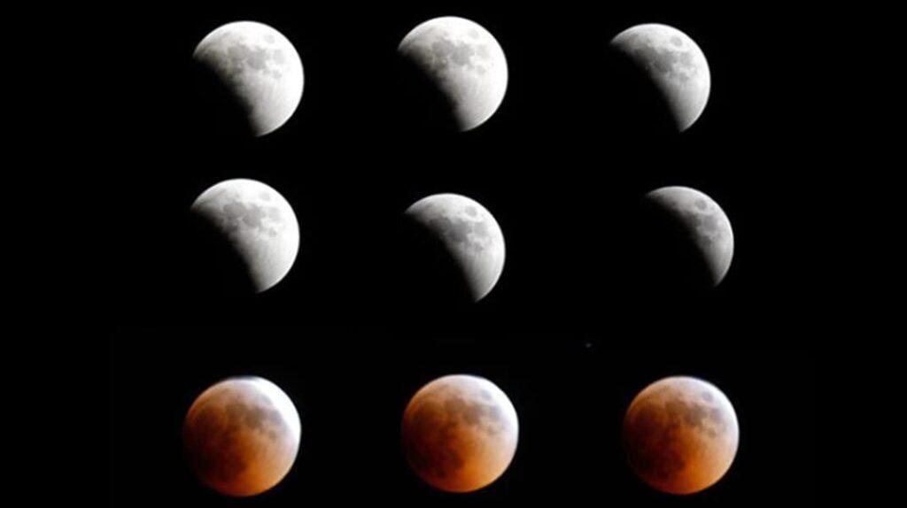 Фазы Луны, Теория плоской Земли, лунное затмение
