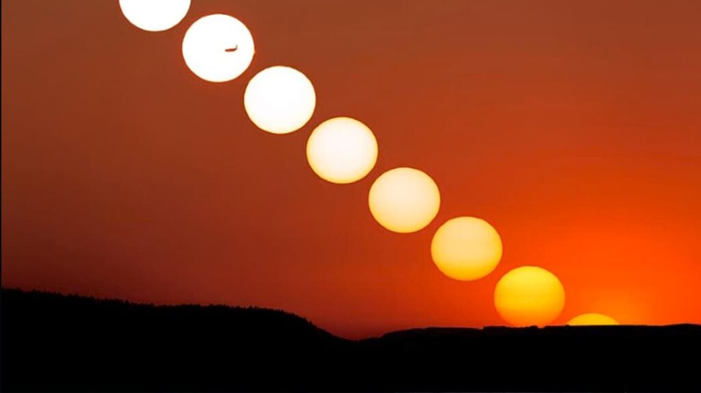 Теория плоской Земли, красивый закат солнца