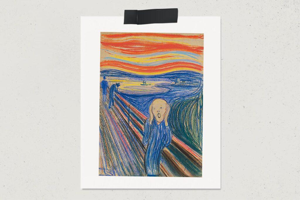 Картина Крик, Эдвард Мунк, художник, пастель, Крик пастелью, лайфхаб, арт, живопись, lifehub, art, 1895, $120 млн.