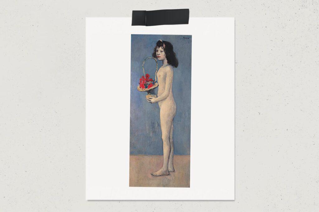 Картина Молодая девушка с цветочной корзиной, Пабло Пикассо, 1905, художник, портрет, лайфхаб, lifehub, арт, art, $115 млн.