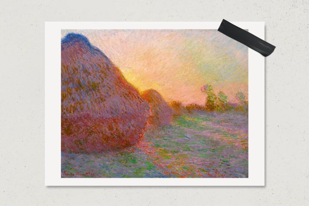 Картина Стога, Клод Моне, самые дорогие картины мира, лайфхаб, художник, живопись, арт, lifehub, art, $110,7 млн., 1890