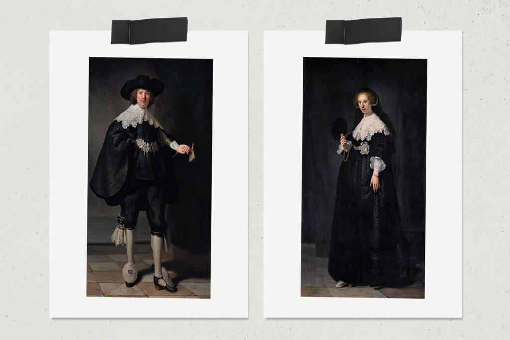 Семейные портреты Мартена Сулманса и Опьен Коппит, картина, Рембрандт Харменс ван Рейн, художник, лайфхаб, арт, lifehub, art, 1634, $160 млн.