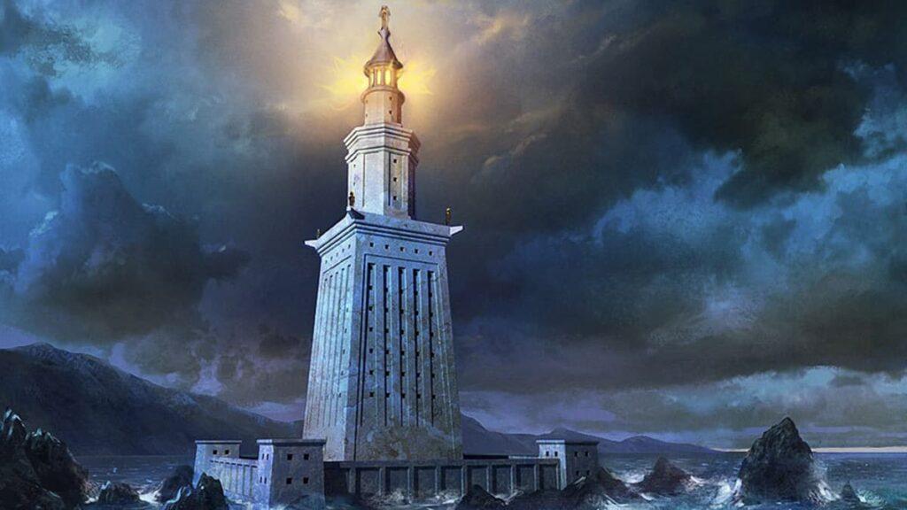 Александрийский маяк, чудо света, lifehub, лайфхаб, маяк, старый маяк, Александрия, Фаросский маяк, остров Фарос
